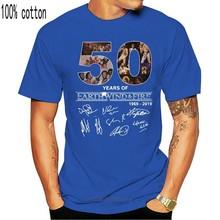 50 anos de terra vento e fogo 1969 2020 camiseta para mulher tamanho S-3XL