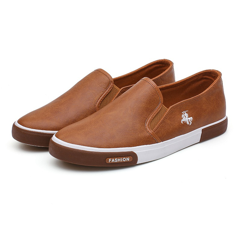 Genuine Leather Casual Shoes Men Comfortable Mens Loafers Luxury Flats Sneakers Men Slip On Lazy Driving Men Shoes