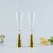 Crystal champagne goblet domestic European style sparkling glass lead-free crystal gold high-grade