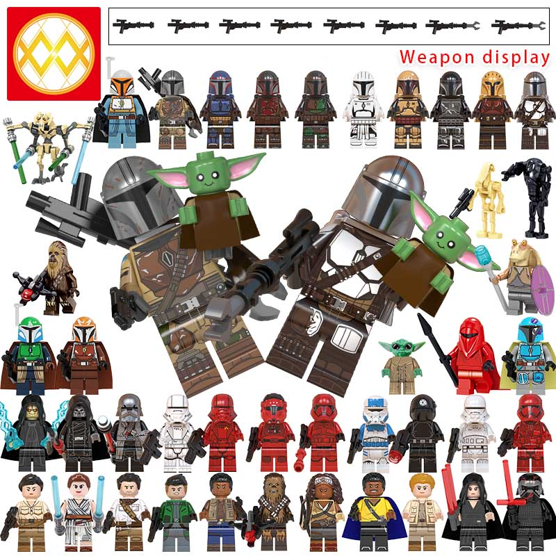 LEGO building block toy Mandalorian With Baby Yoda The Rise of Skywalker Knights