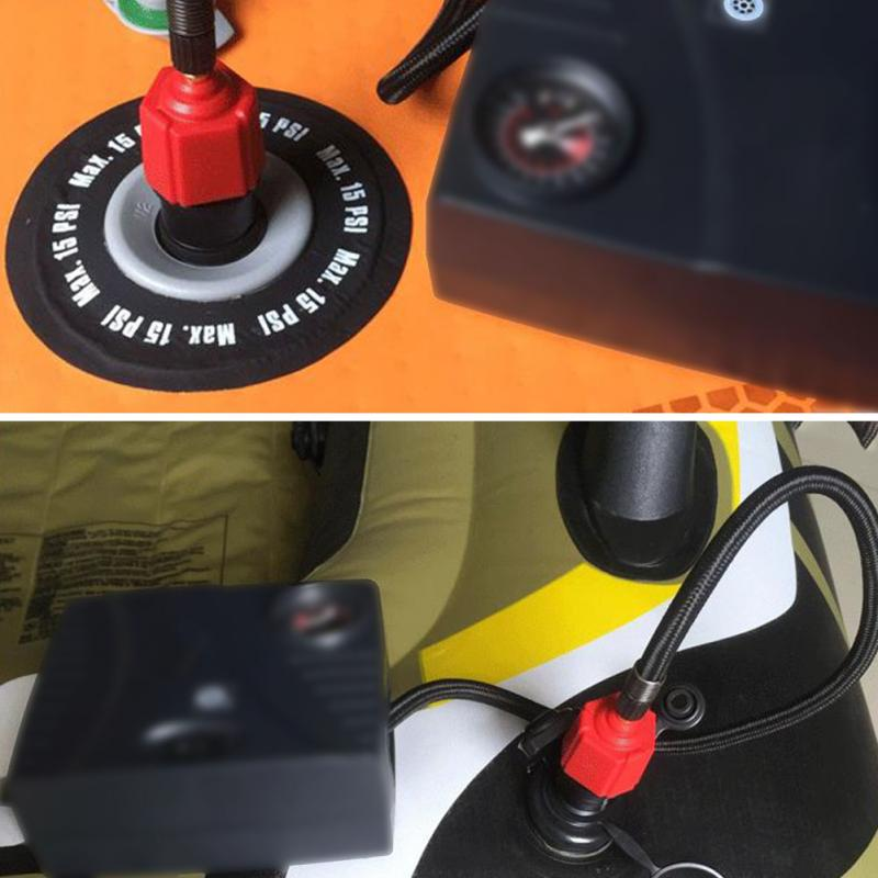 Купить с кэшбэком Inflatable Surfboard paddle board adapter air valve adapter rubber boat canoe inflatable boat tire compressor converter 4 nozzle