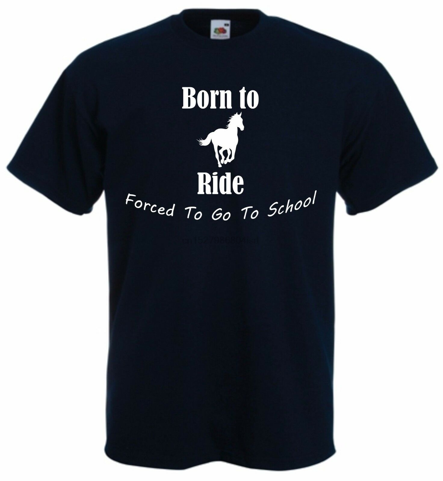 Horse Rider Riding Kids T-Shirt Born To Ride