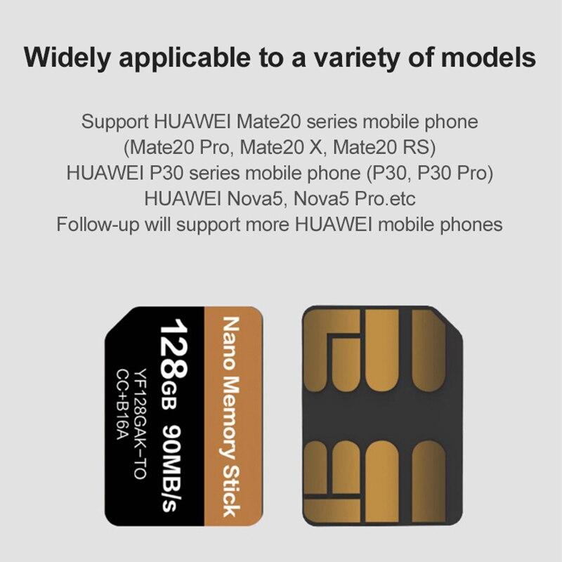 Carte NM lecture 90 mo/s 128 go carte mémoire Nano appliquer pour Mate20 Pro Mate20 X P30 Nova5 Pro avec USB3.1 Type C - 5
