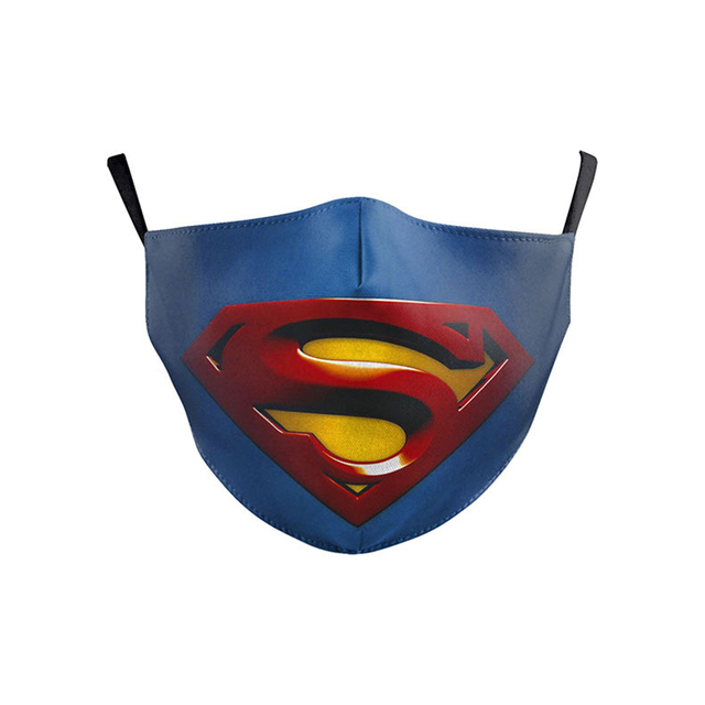Superhero Superman Batman Captain America Child Kids Adult Face Mask Dustproof Cosplay Masks 4