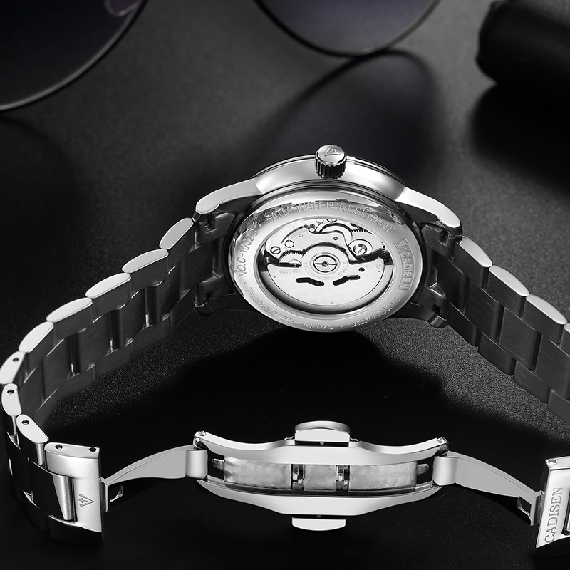 CADISEN Clock Men Watch Automatic Mechanical Watches Japan NH36A Role Date Week Top Luxury Brand Wristwatch Relogio Masculino