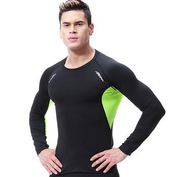 Koszulki do biegania męskie koszulki kompresja Rashguard męskie siłownia TShirt koszulki sportowe odzież sportowa Slim Fit T Shirt człowiek szybkoschnące koszulki tanie i dobre opinie psvteide Wiosna AUTUMN summer Winter spandex Pasuje mniejszy niż zwykle proszę sprawdzić ten sklep jest dobór informacji