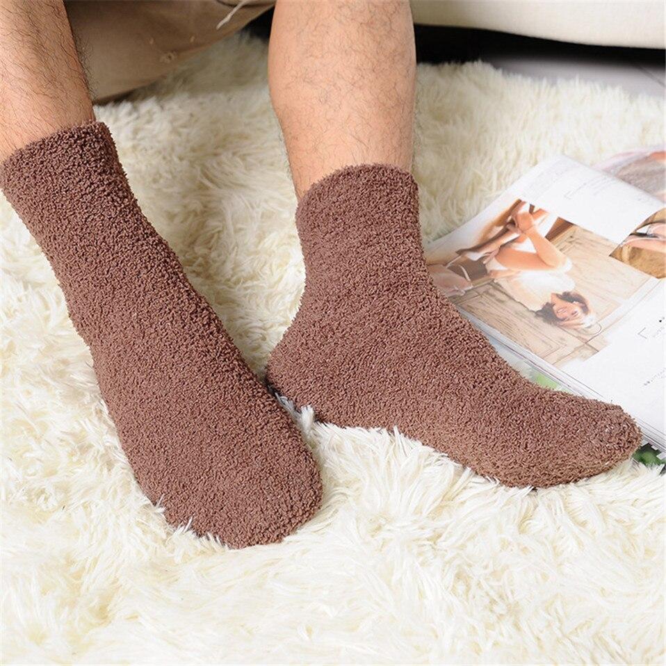 Hot Sale!Women Cozy Cashmere Socks Winter Warm Sleep Bed Socks Floor Home Fluffy Socks Coral Velvet Feet Warmer Christmas Gift