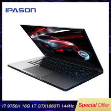 IPASON Ganing Computer 15.6 inch Intel Core i7 Ultra-thin Gaming Gaming Laptop/i7 9750H 16G RAM 1T SSD GTX1660Ti 144Hz High-Rate(China)