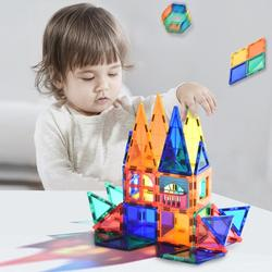Educational Toy Magnetic Tiles Transparentes Magnetic Constructor Building Blocks Toys for Kids Magnet Game