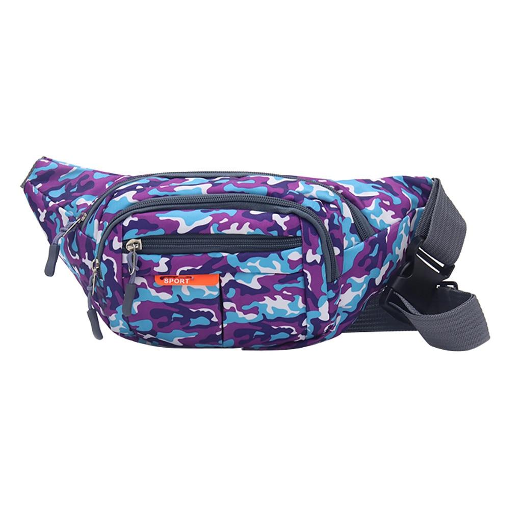Unisex Women Men Fanny Pack Outdoor Sport Students Girls Boys Waist Bags Camouflage Print Chest Bags Belt Bag Waist Pack