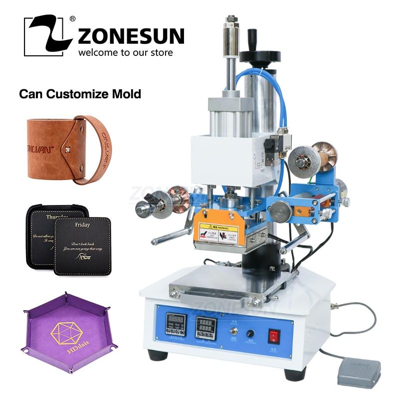 ZONESUN ZSP 890H автоматическая промышленная машина для горячего тиснения фольгой кожа логотип Дерево марка Название карты брендинг машина кожа э