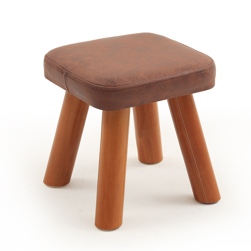 Small Stool Solid Wood Change Shoe Stool Tea Table Fabric Fashion Creative Children Adult Small Bench Sofa Square Stool