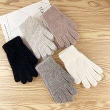 Зимние перчатки женские милые плюшевые теплые для верховой езды