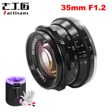 7artisans 35mm F1.2 Prime Lens for Sony E mount Fuji XF APS C Mirrorless Camera Manual Focus Fixed Lens A6500 A6600 X A1 X T3