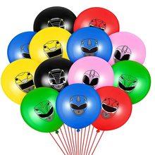 12 pçs/lote herói festa balão brinquedos favor aniversário meninos jogo crianças festa decoração mascarada ninja power rangers balões 12 polegada bola