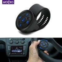 Mando a distancia Universal con Bluetooth para coche, botones de Control inalámbrico para DVD, navegación Android, botón giratorio multifunción