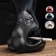 Boxes Ashtray Gorilla Boyfriend Gift Cigarette-Box Smoker Ceramic Home-Decor