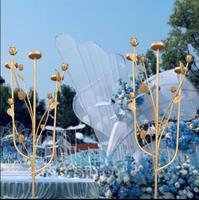 New wedding props, iron art, road leading, wedding supplies, candlesticks, creative decoration, rose frame, scene layout