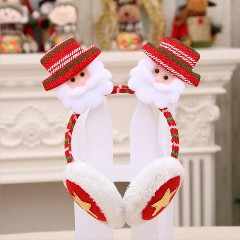Winter Autumn Warm Faux Fur Earmuffs Cute Christmas Ear Earmuff Plush Earmuffs For Girls Ladies Women Rhinestone Headbands
