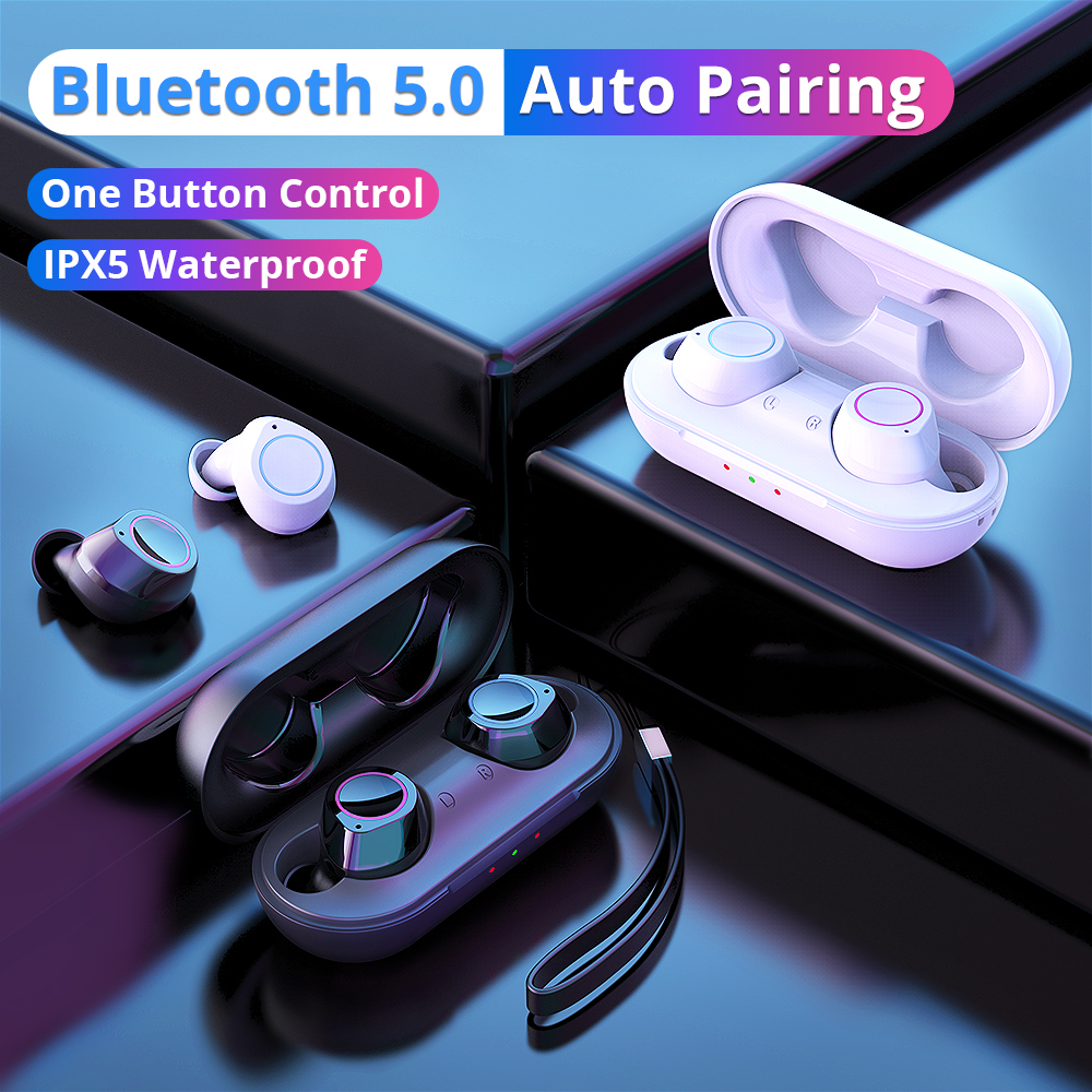 Langsdom TWS Bluetooth Earphones for Phone Sport True Wireless Earbuds Stereo Headset with Mic ecouteur sans fil