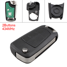 Car Auto Key Replacement 433MHz 2 Buttons Keyless Uncut Flip Remote Fob PCF7941 Chip for Opel Vauxhall Corsa D 2007-2012