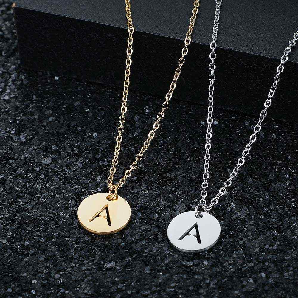 AAAAA Quality 100% Stainless Steel Initial Name A-Z Charm Necklace for Women Never Tarnish Jewelry Necklace