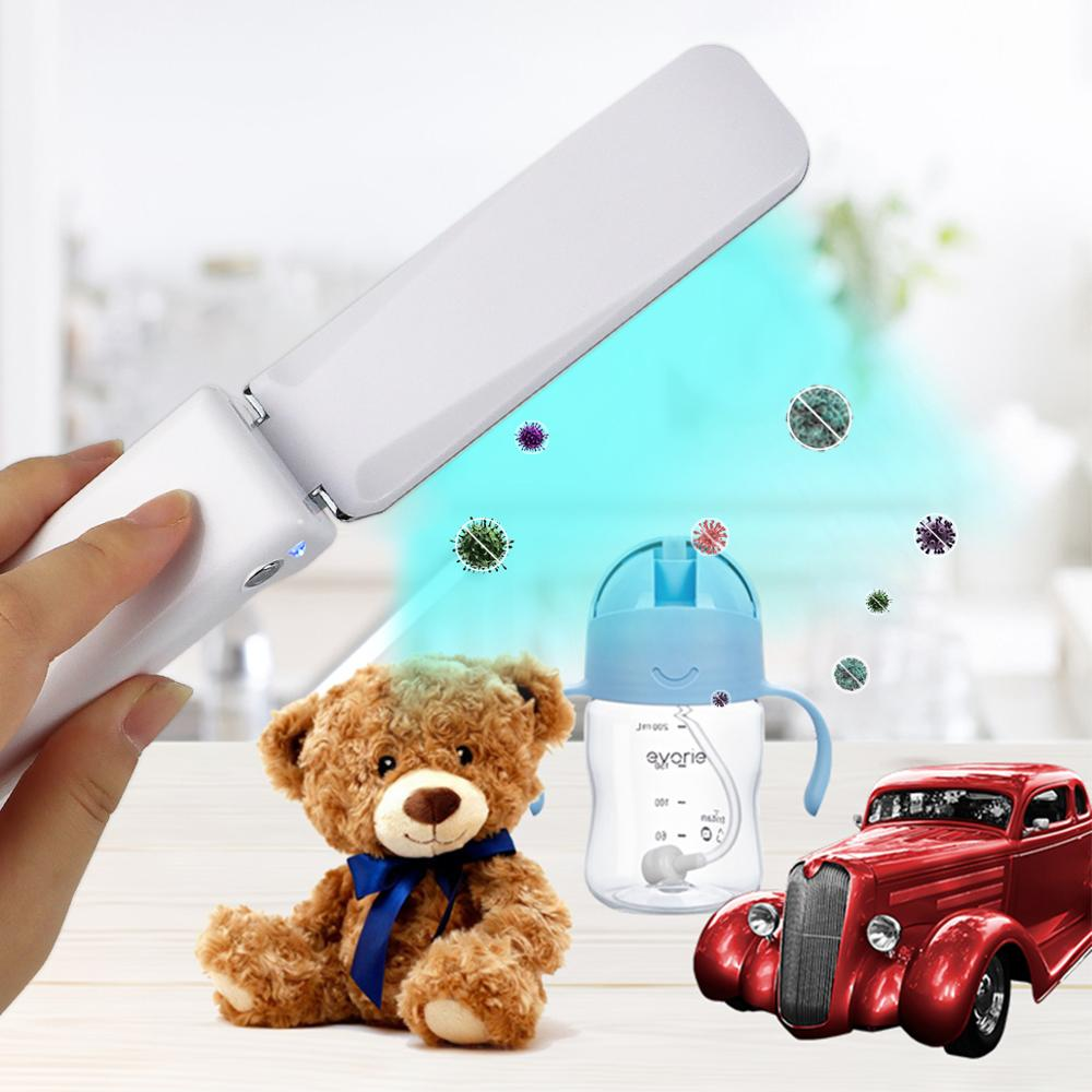 Led Bulb UV Lamp Wand Without Ozone Handheld Folding Outdoor Business Trip Indoor Kitchen Cabinet Ultraviolet UVC Quartz Light 4