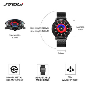 Image 4 - SINOBI New Creative Sports Quartz Wirstwatch Men Miyota Movement Watch Mens TOP Watches Fashion Rotation Clock Relogio Masculino