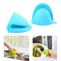 1 ud. De guantes resistentes al calor de silicona para horno microondas, pinzas para sujeción térmica, guantes gruesos para horno, utensilios de cocina para hornear