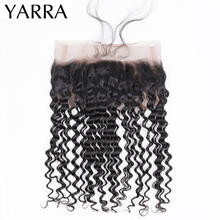 Peruvian Deep Wave 360 Lace Frontal Closure 100% Human Hair Weave 360 Frontal Swiss Lace Pre Plucked with Baby Hair Remy Yarra