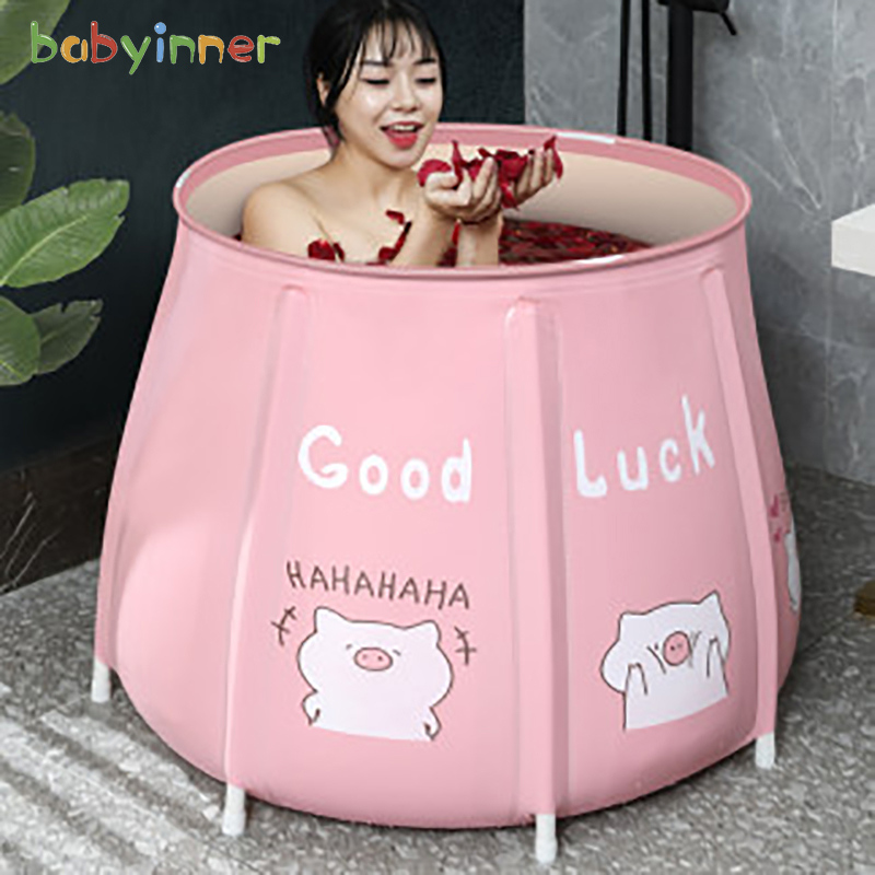 Baby Inner Portable Bathtub Folding Bath Bucket Large Adult Tub Baby Swimming Pool Insulation Separate Family Bathroom SPA Tub