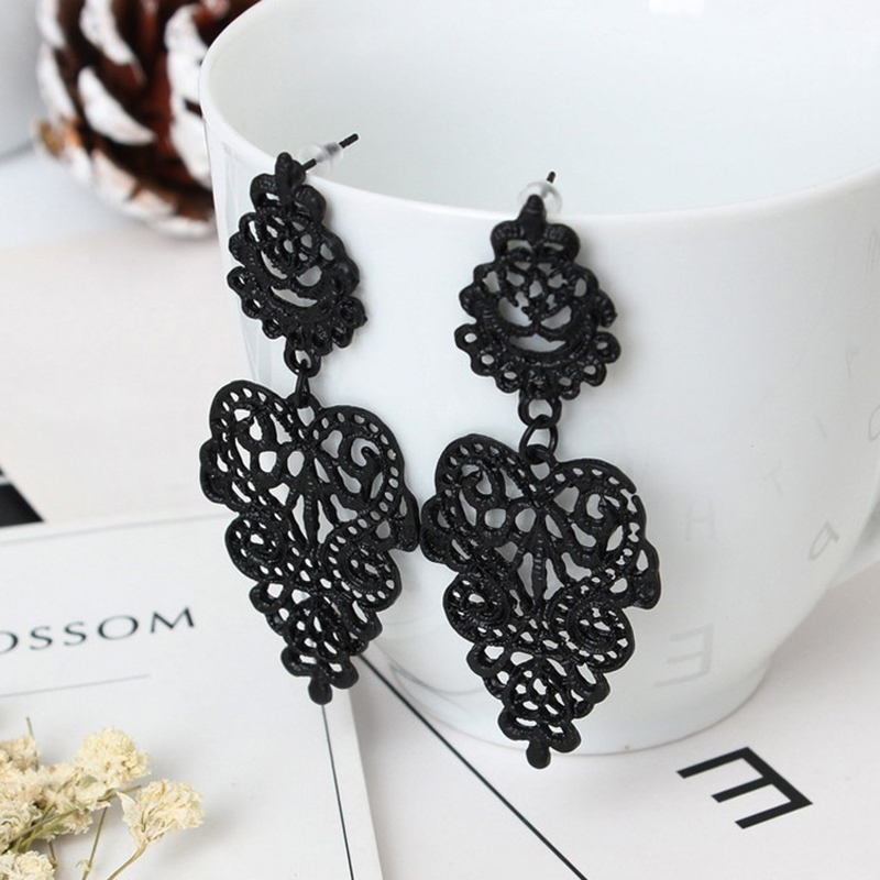 Vintage 2019 Promotion Tin Alloy Brincos Jewelry Earrings Joker Retro Hollow-out Bohemia Female Factory Direct Sale Women