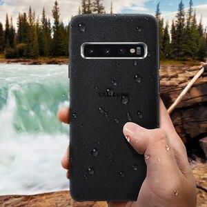 Image 3 - Samsung S10 Cassa Gazzetta Originale Vera Pelle Scamosciata di Cuoio di caso di samsung s10 plus caso della Protezione del telefono Per La Galassia S10e S10 + copertura