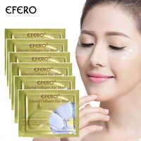 EFERO 5Pairs Collagen Crystal Eye Mask Gel Eye Patch Pad Mask For Eye Care Eliminates Dark Circles Moisturizing Cream Puffiness
