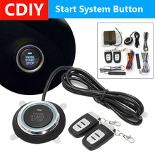 Audew 9pcs Car Engine Start Stop SUV Keyless Entry Engine Start Alarm System Push Button Remote Starter Stop Auto remote engine start stop passive keyless entry car alarm kit 433 92mhz push button start stop and touch password entry