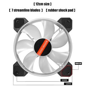 Image 3 - Кулер Coolmoon, 12 см, RGB, 5 В, музыкальный ритм, бесшумный, с корпусом, аура, синхронизация, с музыкальным управлением, кулер для воды, на заказ, 120 мм