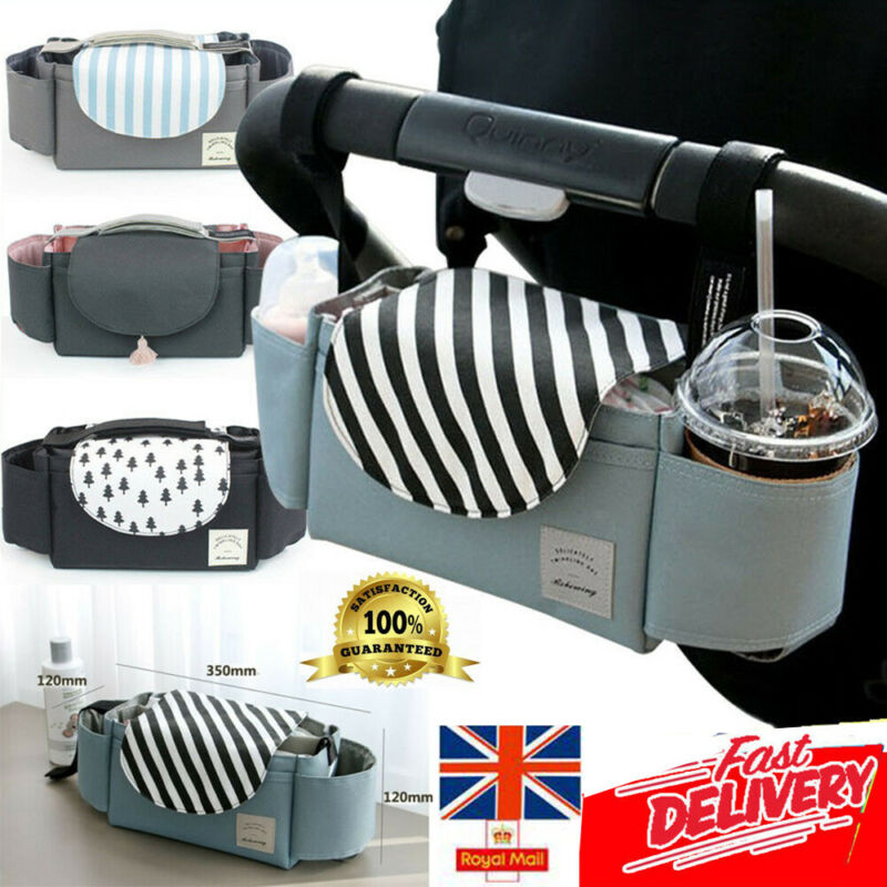 Universal Buggy Baby Pram Organizer Bottle Holder Baby Stroller Accessory Stroller Caddy Storage Bag