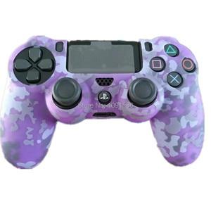 Image 3 - Camouflage Zachte Siliconen Cover Case Bescherming Skin Voor Sony Playstation 4 PS4 Voor Dualshock 4 Controller Voor Ps4 Pro Slim