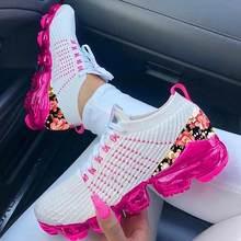 2020 mulher tênis de verão ao ar livre sapatos esportivos multicolorido lazer confortável rendas acima plus size zapatos de mujer sapatos casuais