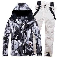 цена на Winter new Ski Set Women's Outdoor Snowboard Jacket Men's Warm Windproof Overalls Skiing Suit Waterproof Snowboard Snow Pants