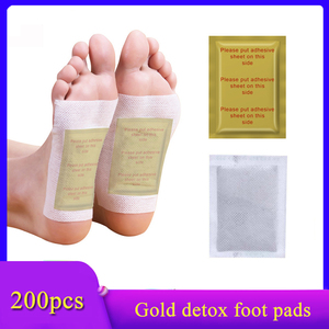 200Pcs=100 patches+100 adhesives Detox Foot Patch Anti-Swelling Ginger Feet Patch Toxins Pads Foot Care Tool Improve Sleep(China)
