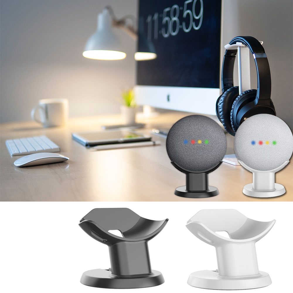 From US 100% Original Google Home Mini Mount Stand Voice Assistants Compact Holder Kitchen Bedroom Study Audio Holder Acesorios
