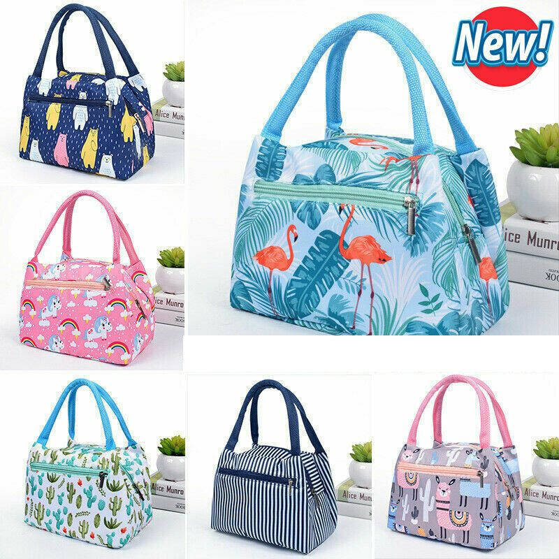 Cartoon Printed Lunch Bag Portable  Insulated Thermal Cooler  Carry Tote  Picnic Bags Food Case Box  /BY