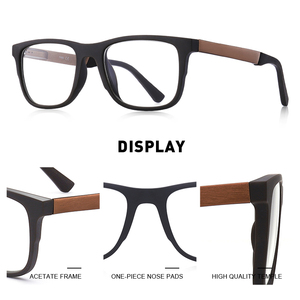 Image 2 - MERRYS עיצוב גברים כיכר משקפיים זכר אופנה קוצר ראיה מרשם משקפיים TR90 מסגרת טיטניום סגסוגת רגליים S2033