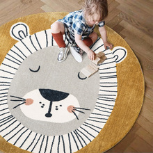 Children Carpet Rugs Floor-Mat Room-Bed Animal-Game Aisle-Decoration Living-Room Lion
