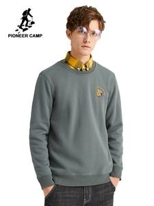 Image 1 - Pioneer Camp Hoodies Men Winter Cotton Casual O neck Fashion Streetwear Sweatshirts for Male 2020 AWY907493