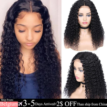 Wig Human-Hair-Wigs Lace Closure Curly Lace-Front Preplucked Bleached Brazilian