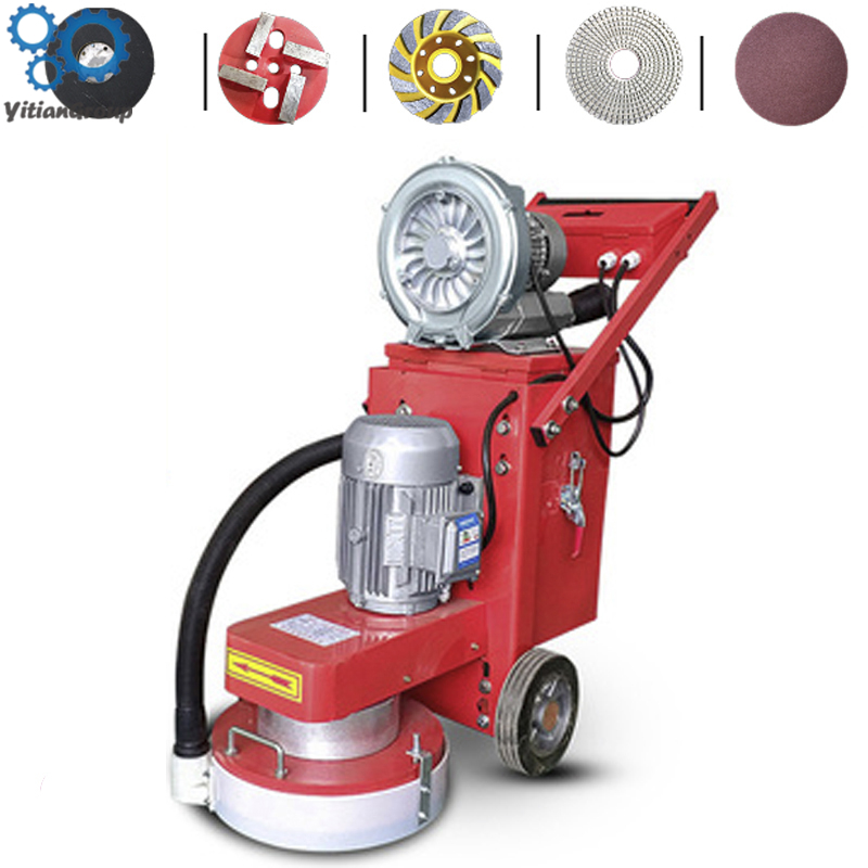 Small Floor Grinding Machine Concrete Floor Grinder Polisher Vacuuming Grinding Machine Adjustable Grinding Depth 220/380V