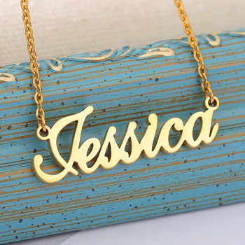 Customized Women Jewelry Fashion Stainless Steel Name Necklace Personalized Letter Gold Choker Necklace Pendant Nameplate Gift customized women jewelry fashion stainless steel name necklace personalized letter gold choker necklace pendant nameplate gift