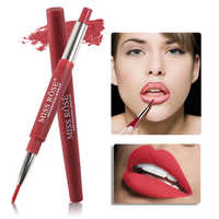 2 In 1 Lipstick pen Soft Matte Lipsticks Lip Liner Lipstick Long Lasting natural 8 Colors Cosmetics Beauty Tool Makeup Lady
